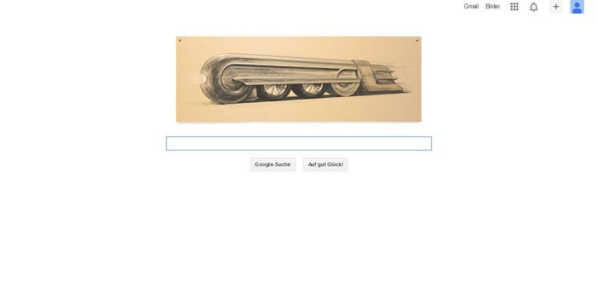 Google ehrt den Industriedesigner Raymond Loewy zu seinem 120. Geburtstag mit einem Doodle